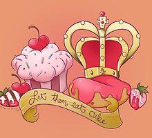 Let Them Eat Cake original print by DixxieMae