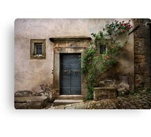 Facade with roses Canvas Print