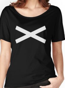 X [White] Women's Relaxed Fit T-Shirt
