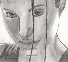 angelina jolie drawing  by renagade