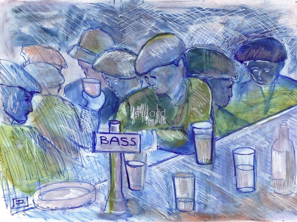 A busy bar (from my original col pen with acrylic highlights ) by sword