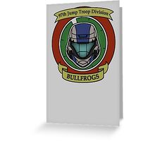 The Bullfrogs Insignia Greeting Card