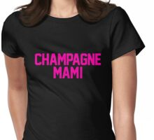 Champagne Mami [Pink] Womens Fitted T-Shirt