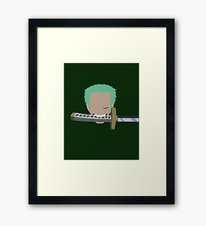 Pirate Hunter Zoro  Framed Print