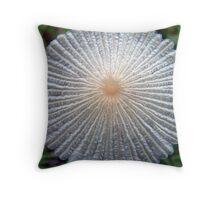 mushroom details close up Throw Pillow