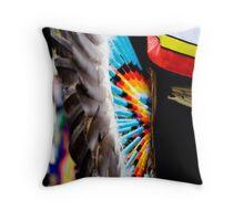 Pow Wow colours Throw Pillow