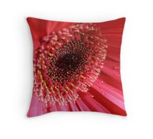 Inside a Gerbera Throw Pillow
