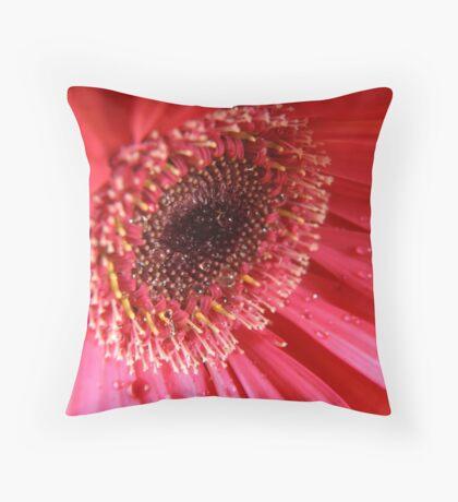 Inside a Gerbera Throw Pillow