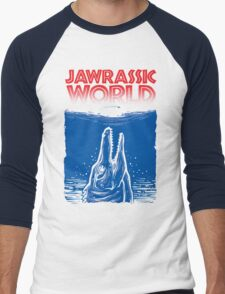 Jawrassic World (jurassic world/Jaws) Men's Baseball ¾ T-Shirt