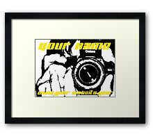 Advertise Your Name and Website Address! Framed Print