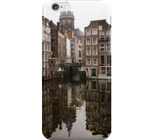 Amsterdam - Reflecting on Autumn Canal Houses iPhone Case/Skin