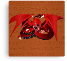 Slifer, the Sky Dragon Canvas Print