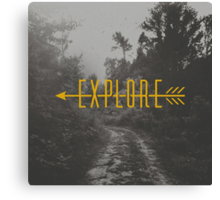 Explore (Arrow) Canvas Print