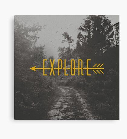 Explore (Arrow) Canvas Print