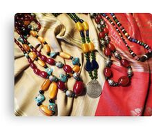 Amber And Glass Beads Canvas Print
