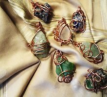Beach Glass Pendants by Marie Van Schie