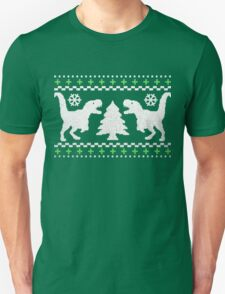 Ugly T-Rex Christmas Holiday Sweater Design T-Shirt