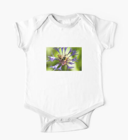 Bumblebee and flower One Piece - Short Sleeve