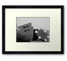 Pocket Aces Framed Print