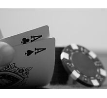 Pocket Aces Photographic Print
