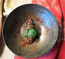 Green Beach Glass Pendant by Marie Van Schie