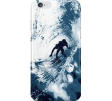Boarding Trybe Tube, Hawaiian Surf Graphic - Navy Blue iPhone Case/Skin