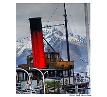 Queenstown Steam Boat Photographic Print