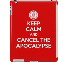 Keep Calm and Cancel the Apocalypse iPad Case/Skin