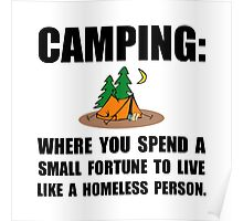 Camping Homeless Poster