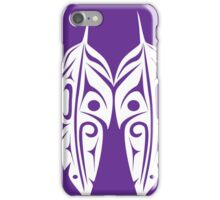 Four White Feathers on Purple  iPhone Case/Skin