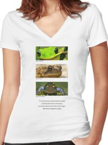 Amphibian conservation Women's Fitted V-Neck T-Shirt