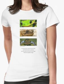 Amphibian conservation Womens Fitted T-Shirt