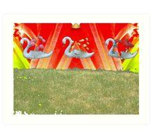 Swan Set Art Print