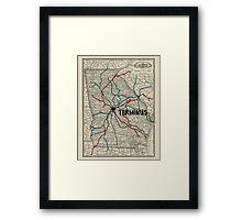Terminus Map Framed Print