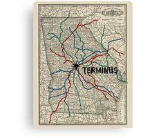 Terminus Map Canvas Print