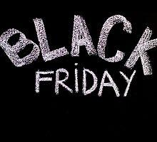 Black Friday advertisement handwritten with chalk on blackboard by Stanciuc