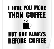 Not Before Coffee Poster