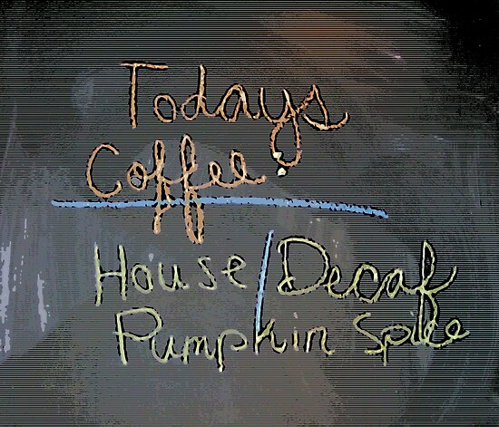 Comic Abstract Today's Special Coffee Shop Chalkboard by steelwidow
