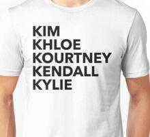 Kardashian Family Unisex T-Shirt