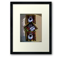 Comic Abstract Coffee Based Art Framed Print