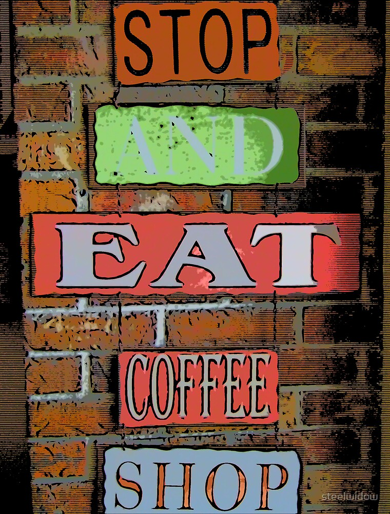 Comic Abstract Coffee Shop Signs by steelwidow