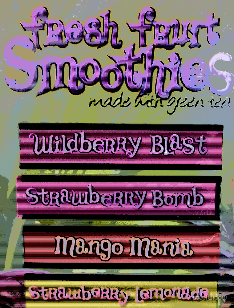 Comic Abstract Coffee Shop Smoothies by steelwidow