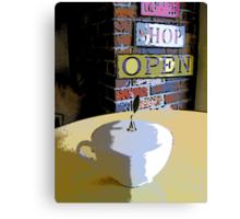 Comic Abstract Coffee Shop Tea Cup Canvas Print