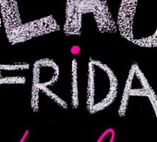 Black Friday deals advertisement handwritten with chalk on blackboard Sticker