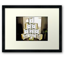 Comic Abstract Coffee Shop Tea Display Framed Print