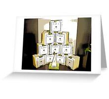 Comic Abstract Coffee Shop Tea Display Greeting Card