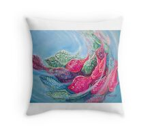 Sea Swirls Throw Pillow