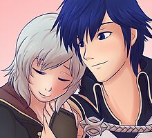 Chrom x F!Robin (Silver Hair) by SaBasse