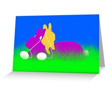 Easter Bunnies with Ear Buds Greeting Card