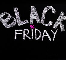 Black Friday advertisement handwritten with chalk by Stanciuc